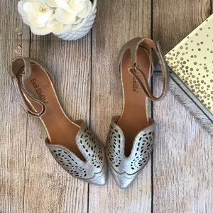 Anthropologie Gee Wawa Ankle Strap Cut Out Flat 7